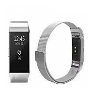 Недорогие Аксессуары для смарт-часов-Ремешок для часов для Fitbit Charge 2 Fitbit Спортивный ремешок / Миланский ремешок Нержавеющая сталь Повязка на запястье