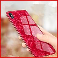 Недорогие Кейсы для iPhone 8 Plus-Кейс для Назначение Apple iPhone X / iPhone 8 Зеркальная поверхность / Рельефный Кейс на заднюю панель Геометрический рисунок Твердый