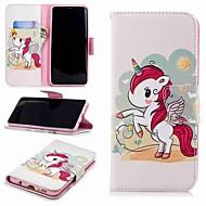 Недорогие Чехлы и кейсы для Galaxy S9-Кейс для Назначение SSamsung Galaxy S9 Plus / S8 Кошелек / Бумажник для карт / со стендом Чехол единорогом Твердый Кожа PU для S9 / S8