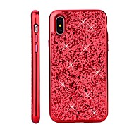 Недорогие Кейсы для iPhone 8 Plus-Кейс для Назначение Apple iPhone X / iPhone 8 Покрытие / Сияние и блеск Кейс на заднюю панель Сияние и блеск Твердый ПК для iPhone X /