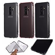 Недорогие Чехлы и кейсы для Galaxy S9 Plus-Кейс для Назначение SSamsung Galaxy S9 / S9 Plus Защита от удара Кейс на заднюю панель Однотонный Мягкий ТПУ для S9 Plus / S9