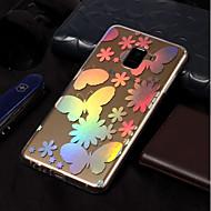 Недорогие Чехлы и кейсы для Galaxy A3(2017)-Кейс для Назначение SSamsung Galaxy A8 2018 / A8 Plus 2018 Покрытие / С узором Кейс на заднюю панель Бабочка Мягкий ТПУ для A3 (2017) /
