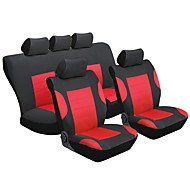 cheap Car Seat Covers-Car Seat Covers Seat Covers Red Textile Common for universal Universal