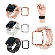 Недорогие Аксессуары для смарт-часов-Ремешок для часов для Fitbit Blaze Fitbit Дизайн украшения Металл Повязка на запястье