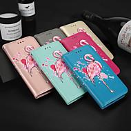 Недорогие Чехлы и кейсы для Galaxy S9-Кейс для Назначение SSamsung Galaxy S9 S9 Plus Бумажник для карт Кошелек со стендом Флип С узором Чехол Фламинго Твердый Кожа PU для S9