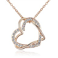 cheap -Women's Long Pendant Necklace - Rhinestone Heart Vintage, Ethnic, Fashion Gold 40+5 cm Necklace 1pc For Party / Evening, Going out