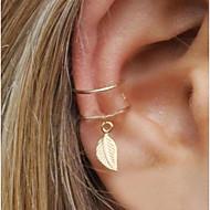 cheap -Women's Leaf 1pc Clip Earrings - Metallic / Statement Gold / Silver Geometric Earrings For Evening Party / Street / Women's / 1pc
