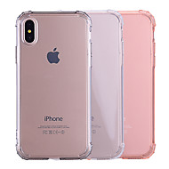 Case For Apple iPhone X / iPhone 8 Shockproof / Transparent / Translucent Back Cover Solid Colored Soft TPU for iPhone X / iPhone 8 Plus / iPhone 8