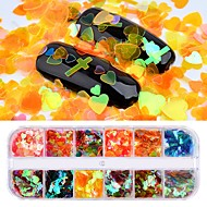 cheap -1pcs Sequins Glitters / Irregular Style Cute Daily Nail Art Forms