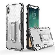 Недорогие Кейсы для iPhone 8 Plus-Кейс для Назначение Apple iPhone X / iPhone 8 со стендом / Прозрачный Кейс на заднюю панель броня Мягкий ТПУ для iPhone X / iPhone 8 Pluss / iPhone 8