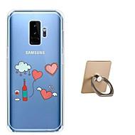 Недорогие Чехлы и кейсы для Galaxy S9-Кейс для Назначение SSamsung Galaxy S9 Plus / S9 С узором Кейс на заднюю панель С сердцем Мягкий ТПУ для S9 / S9 Plus