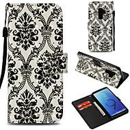 Недорогие Чехлы и кейсы для Galaxy S8 Plus-Кейс для Назначение SSamsung Galaxy S9 Plus / S9 Кошелек / Бумажник для карт / со стендом Чехол Кружева Печать Твердый Кожа PU для S9 /