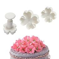 お買い得  キッチン用小物-ベークツール プラスチック 創造的 / DIY クッキー / Cupcake / ケーキのための ケーキ型 3本
