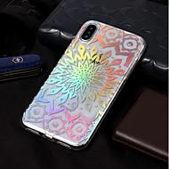 Недорогие Кейсы для iPhone 8-Кейс для Назначение Apple iPhone X / iPhone 8 IMD / С узором Кейс на заднюю панель Цветы Мягкий ТПУ для iPhone X / iPhone 8 Pluss /