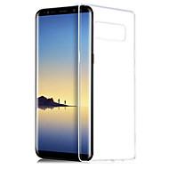 Недорогие Чехлы и кейсы для Galaxy Note 8-Кейс для Назначение SSamsung Galaxy Note 8 Прозрачный Кейс на заднюю панель Однотонный Мягкий ТПУ для Note 8