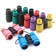 abordables Binoculares-4X30mm Binoculares Portátil / Peso ligero BAK4 90/100m Camping / Senderismo / Cuevas ABS + PC