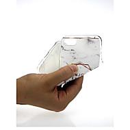 Недорогие Кейсы для iPhone 8 Plus-Кейс для Назначение Apple iPhone X / iPhone 7 Ультратонкий / С узором / Милый Кейс на заднюю панель Мрамор Мягкий ТПУ для iPhone X /