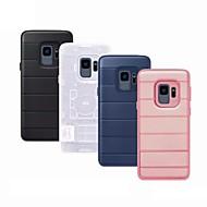 Недорогие Чехлы и кейсы для Galaxy S8-Кейс для Назначение SSamsung Galaxy S9 Plus / S8 со стендом Кейс на заднюю панель Однотонный Твердый Силикон для S9 Plus / S9 / S8 Plus