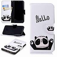 Недорогие Чехлы и кейсы для Galaxy S9-Кейс для Назначение SSamsung Galaxy S9 Plus / S8 Кошелек / Бумажник для карт / со стендом Чехол Панда Твердый Кожа PU для S9 / S8 Plus