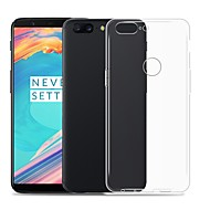 Case For OnePlus OnePlus 6 Transparent Back Cover Solid Colored Soft TPU for OnePlus 6