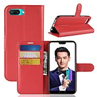 お買い得  携帯電話ケース-ケース 用途 Huawei Honor 10 カードホルダー / ウォレット / フリップ フルボディーケース ソリッド ハード PUレザー のために Huawei Honor 10