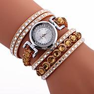 billige Bohemeure-Dame Armbåndsur Kinesisk Afslappet Ur / Sej / Imiteret Diamant PU Bånd Bohemisk / Mode Sort / Hvid / Blåt