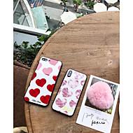 Недорогие Кейсы для iPhone 8 Plus-Кейс для Назначение Apple iPhone X iPhone 7 Plus Защита от пыли Кейс на заднюю панель С сердцем Твердый Закаленное стекло для iPhone X