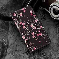 halpa Puhelimen kuoret-Etui Käyttötarkoitus Xiaomi Mi 6X / Mi 5X Korttikotelo / Lomapkko / Tuella Suojakuori Kukka Kova PU-nahka varten Xiaomi Mi 6X(Mi A2) /
