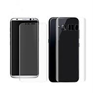 Недорогие Чехлы и кейсы для Galaxy S-Защитная плёнка для экрана для Samsung Galaxy S8 PET 2 штs Защитная пленка для экрана и задней панели 3D закругленные углы / Защита от