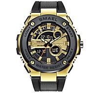 levne -SMAEL Pánské Sportovní hodinky Digitální hodinky japonština Japonské Quartz Černá 50 m Voděodolné Kalendář Chronograf Analog - Digitál Na běžné nošení Módní - Černá Černá a zlatá / Stopky / Svítící