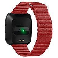 Недорогие Аксессуары для смарт-часов-Ремешок для часов для Fitbit Versa Fitbit Классическая застежка Натуральная кожа Повязка на запястье