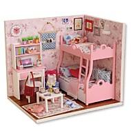 abordables Muñecas y Peluches-Casa de Muñecas Creativo Exquisito Mini Casa Romántico Piezas Todo Chica Juguet Regalo