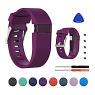 cheap -Watch Band for Fitbit Charge HR Fitbit Classic Buckle Silicone Wrist Strap