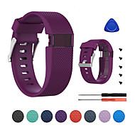 Недорогие Аксессуары для смарт-часов-Ремешок для часов для Fitbit Charge HR Fitbit Классическая застежка силиконовый Повязка на запястье