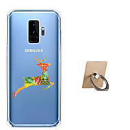 Недорогие Чехлы и кейсы для Galaxy S9-Кейс для Назначение SSamsung Galaxy S9 Plus / S9 С узором Кейс на заднюю панель Животное Мягкий ТПУ для S9 / S9 Plus