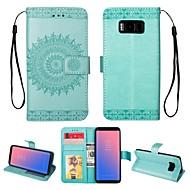 Недорогие Чехлы и кейсы для Galaxy S8-Кейс для Назначение SSamsung Galaxy S8 Бумажник для карт / Кошелек / со стендом Чехол Однотонный Твердый Кожа PU для S8