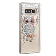 Недорогие Чехлы и кейсы для Galaxy Note-Кейс для Назначение SSamsung Galaxy Note 8 Движущаяся жидкость Кейс на заднюю панель Сияние и блеск Сова Твердый ПК для Note 8