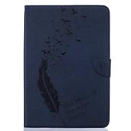 Недорогие Чехлы и кейсы для Samsung Tab-Кейс для Назначение SSamsung Galaxy Tab A 9.7 Бумажник для карт Кошелек со стендом С узором Авто Режим сна / Пробуждение Чехол Перья