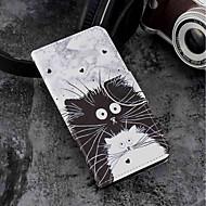 お買い得  携帯電話ケース-ケース 用途 Motorola Moto G6 Plus / MOTO G6 カードホルダー / ウォレット / スタンド付き フルボディーケース 猫 ハード PUレザー のために Moto G6 Plus / MOTO G6 / Moto G5s Plus