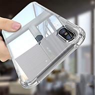 Недорогие Кейсы для iPhone 8-Кейс для Назначение Apple iPhone 6s / Кейс для iPhone 5 Защита от удара / Прозрачный Body Кейс на заднюю панель Однотонный Мягкий ТПУ для