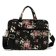 """billige -13,3 """"14"""" 15,6 """"skulder messenger taske dokumentmappe håndtasker lærred blomster print til macbook / overflade / hp / dell / samsung / sony etc"""