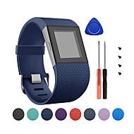 Недорогие Аксессуары для смарт-часов-Ремешок для часов для Fitbit Surge Fitbit Классическая застежка силиконовый Повязка на запястье