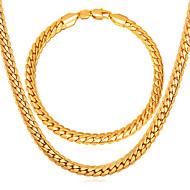 ieftine -Bărbați Brățări cu Lanț & Legături Lănțișoare Link / Lanț Lanț de lanțuri Cercul Twist femei Modă Placat Auriu Placat Cu Aur Roz cercei Bijuterii Auriu Pentru Zilnic