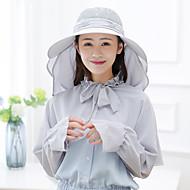 abordables Sombreros, Capas y Bandanas-Gorra para senderismo Sombrero Ligero Transpirabilidad Resistente a los rayos UV Verano Azul Mujer Pesca Escalada Viaje Un Color / Elástico