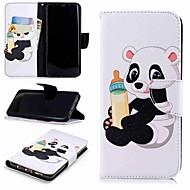 Недорогие Чехлы и кейсы для Galaxy S-Кейс для Назначение SSamsung Galaxy S9 Plus / S8 Кошелек / Бумажник для карт / со стендом Чехол Панда Твердый Кожа PU для S9 / S8 Plus