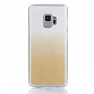Недорогие Чехлы и кейсы для Galaxy S9 Plus-Кейс для Назначение SSamsung Galaxy S9 / S9 Plus Сияние и блеск Кейс на заднюю панель Однотонный Мягкий ТПУ для S9 Plus / S9 / S8 Plus