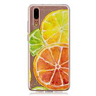 お買い得  携帯電話ケース-ケース 用途 Huawei P20 / P20 lite 半透明 バックカバー 果物 ソフト TPU のために Huawei P20 / Huawei P20 Pro / Huawei P20 lite