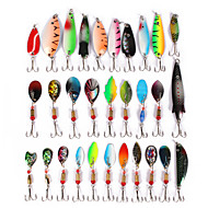 お買い得  釣り用アクセサリー-30 pcs ルアーパック スプーン / ルアーパック / メタルベイト メタリック 海釣り / ベイトキャスティング / ルアー釣り