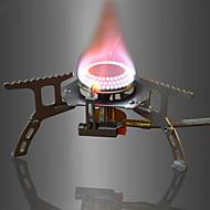 お買い得  -DesertFox® キャンプ用ガスストーブ アウトドア用調理器具 ライトウェイト ステンレス鋼 / Aluminum Alloy / 銅色 アウトドア のために 釣り / ハイキング / キャンピング シルバー
