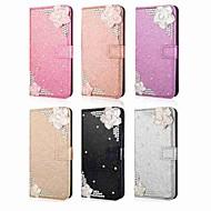 billige Mobilcovers-Etui Til Huawei P20 lite / P20 Pro Rhinsten Fuldt etui Glitterskin Hårdt PU Læder for Huawei P20 / P10 Lite / P10
